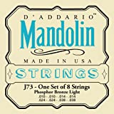D'Addario J73 Saiten als Satz Mandola Mandocello & Mandobass Mandoline Bronze