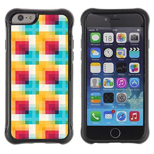 Graphic4You BLACK STRIPES Muster Shockproof Anti-Rutsch Weichen Hülle Case Tasche Schutzhülle für Apple iPhone 6 / 6S Design #5