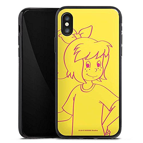 Apple iPhone X Silikon Hülle Case Schutzhülle Bibi Blocksberg Fanartikel Merchandise Bibi Silikon Case schwarz