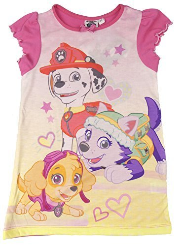 (Mädchen Nachthemd ARIEL ASCHENPUTTEL MLP Scooby Doo Shopkins Prinzessinnen Frozen - Pfoten Patrole, 104)