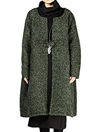 f13e591c11417 Vogstyle Women s New Winter Loose One Button Long Overcoat Wool Coat
