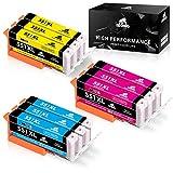 IKONG CLI 551 Kompatibel für Druckerpatronen Canon CLI-551, 9 Packungen, Hohe Ausbeute, Arbeiten mit Canon PIXMA MX925 ip7250 MG5550 MG7150 MG5650 MG5450 IX6850 MG6350 MX725 ip8750 MG6450 Drucker