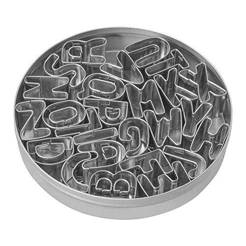 symboat-Backform, Grillfläche Basteln Edelstahl Englisch Alphabet dekorativ Kekse Nachhaltige Backform