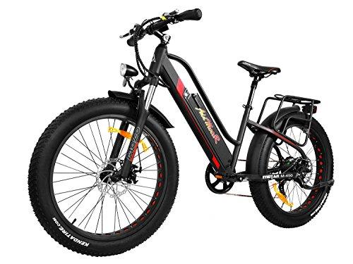 Addmotor MOTAN M-450 E-Bike elektrisches Fahrrad tiefer Durchstieg Frauenfahrrad 26 Zoll Fat Tire Vollfederung 500W elektrisches Mountainbike 2018