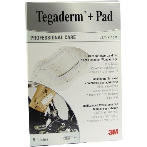 Tegaderm Plus Pad Transparentverband 5 x 7 cm 5 Stück