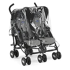 Chicco Echo Twin Stroller Coal - Black   7