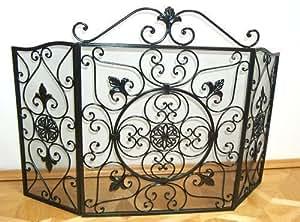 grille pare feu pare tincelles pour chemin e en fer style ancien cuisine maison. Black Bedroom Furniture Sets. Home Design Ideas