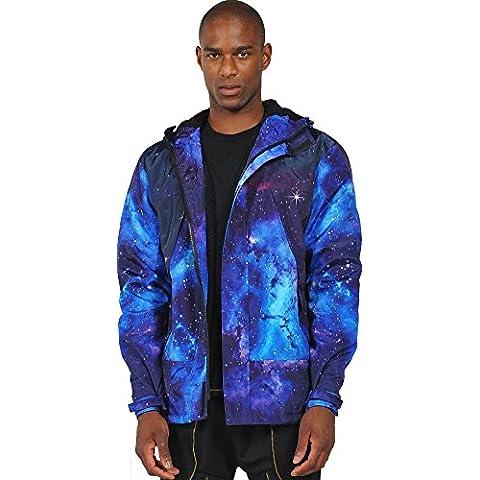 Pizoff Hombre Hip Hop Jacket Chaqueta de galaxia nebulosa