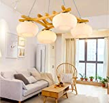 Lampadario del salone, camera da letto moderna del candeliere Lampadario semplice del ristorante, apparecchio per legno nordico