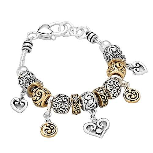 rosemarie-kollektionen-damen-armband-italienisches-multi-bead-silber-gold