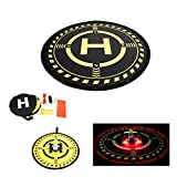 Anbee RC Drone Landing Pad with Night Flight Lights, Universal 70cm Foldable Parking Apron for RC Quadcopter, Fits DJI Phantom 3/4, Mavic Pro/Platinum/Air/Spark, Bebop 2 and other FPV Racing Drones by Anbee