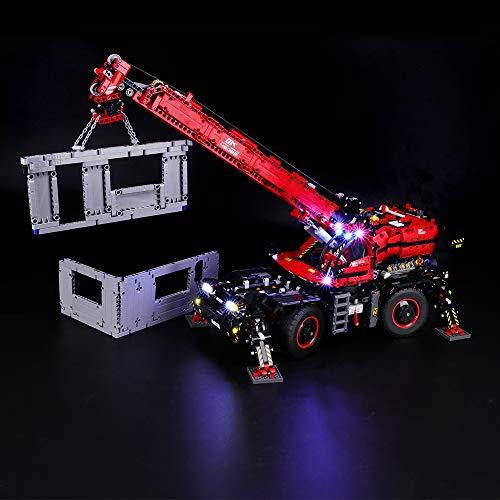 BRIKSMAX Led Beleuchtungsset für Lego Technic Geländegängiger Kranwagen, Kompatibel Mit Lego 42082 Bausteinen Modell - Ohne Lego Set