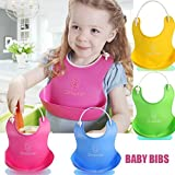 Getko 2 Pc Baby Bibs/Waterproof Silicone Pick Rice Bag Baby Bibs/Silicon Baby Bibs/ Bibs Food Catcher