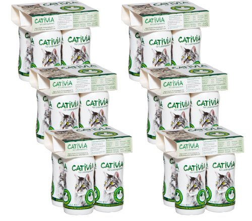 katzeninfo24.de Dehner Cativia, prebiotische Katzenmilch, 6 x 4 Flaschen (2.28 l)