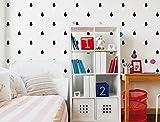 I-love-Wandtattoo WAS-10622 Set de 56autocollants muraux pour chambre d'enfant en forme de goutte Idéal pour décorer un mur Noir