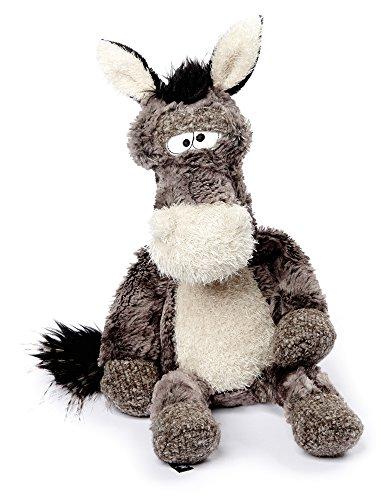 sigikid BEASTS 38482 - Kuscheltier für Erwachsene und Kinder, Eselhengst Doodle Donkey, Grau/Weiß