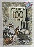Stecker Alter 100100. Jahr Sie geboren wurden, in 1918Geburtstagskarte