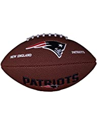 Wilson Football Wilson NFL Mini Patriots Logo - Balón de fútbol americano ( caucho ) , color marrón, talla Mini