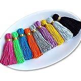 Long Multi -Colour Handmade Wool Thread Tassels - 3 inches Long - 25 pcs.