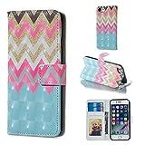 BONROY Hülle,iPhone 6 Plus/6S Plus (5.5 Zoll) Schutzhülle, Lederhülle PU Leder Tasche Cover Wallet Case für iPhone 6 Plus/6S Plus (5.5 Zoll) Smartphone-(XS-Farbwelle)