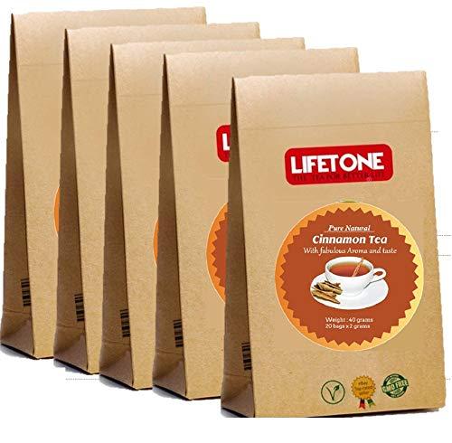 LIFETONE Ceylon Cinnamon Tea,Pleasant Aroma,100 Teabags,200g