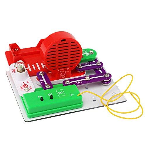 Flying Saucer Licht FM Smart DIY Elektronik Kit Blöcke Wissenschaft pädagogisches Spielzeug (a)