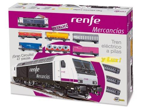 Pequetren - 888, treno elettrico con vagoni merci renfe, con pista, 47 pz.