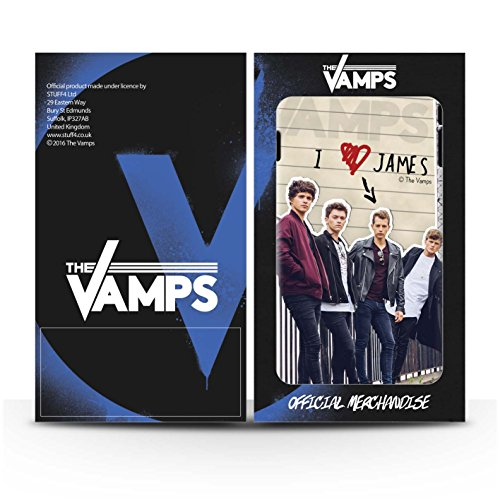 Offiziell The Vamps Hülle / Glanz Snap-On Case für Apple iPhone 5/5S / James Muster / The Vamps Geheimes Tagebuch Kollektion James