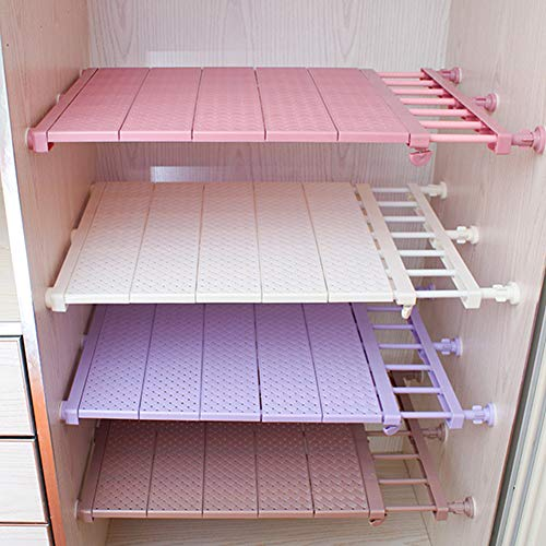 Supw organizer da parete regolabile per armadio, mensola da cucina, salvaspazio, organizer da bagno, bianco, 29-46cm