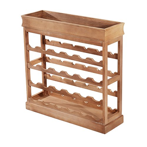 Homcom Weinregal aus Holz mit 4 Ebenen, für 24 Flaschen, stapelbar, zum Ausstellen, Lagern, Halten,...