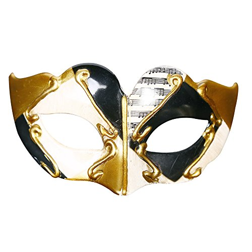 Huangwanru-Holiday supplies Halloween Maske Halloween Maskerade Maske Flat Head Half Face Hartplastik Kindermaske Kreative Unikate Halloween Cosplay (Farbe : Schwarz) (Kreative Unikate Kostüm)