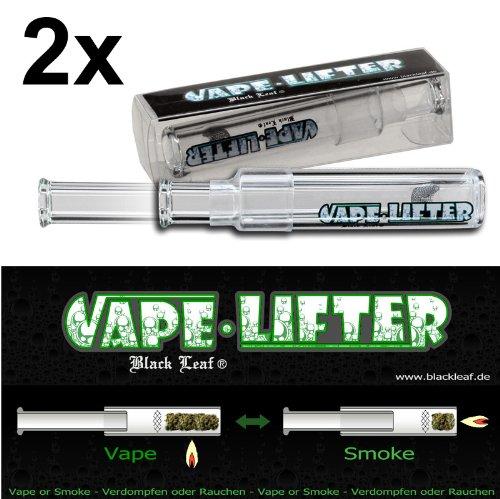 2x Black Leaf Vape Lifter Vaporizer 2in1 Hand-Vaporisierer u Pur-Pfeife