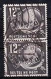 Briefmarken DDR 1949, Mi. Nr. 245 senkrechtes Paar, Tag der Briefmarke, Gestempelt