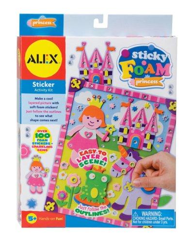 Imagen 1 de Alex Sticky Foam Scenes - Juego de manualidades con espuma, diseño de princesa