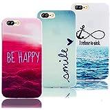 Vandot 3 X iPhone 7 Plus Etui iPhone 7 Plus TPU Silicone Shell iPhone 7 Plus 5.5 Pouces Housse Coque Étui Case Cover Pour iPhone 7 Plus ( Motif coloré ) Universelle Couverture Coquille