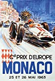 Monte Carlo Monaco grand prix grosser preis 1963 schild aus blech, metal sign, tin sign
