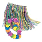 Child Hula Skirt and Lei Set