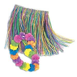 Hawaiian Child Luau Set - Luau Skirt and Lei Set (accesorio de disfraz)