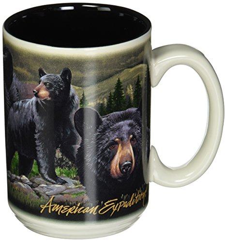 American Expedition Wildlife Collage Serie 444ml Steingut Kaffee Tasse (schwarz Bär) American Wildlife Serie