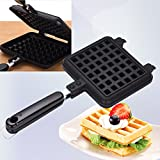 Square French egg waffle maker / Nonstick metal waffle mould / Waffle Pan cake mold