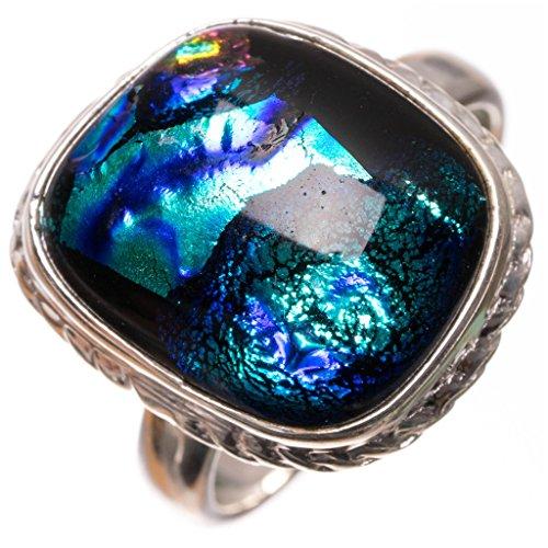 stargemstm-natural-fancy-dichroic-glass-handmade-boho-925-sterling-silver-ring-uk-size-n-1-2