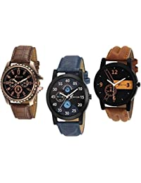 RICH CLUB SK - Analogue Black Blue Dial Men's Watch - REL-OCT-DENIM
