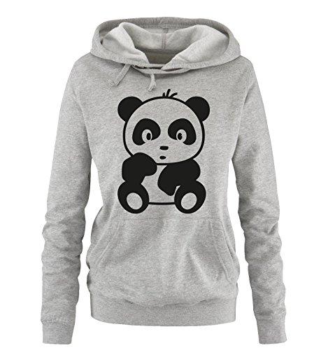 Comedy Shirts - Comic - Baby Bär - Damen Hoodie Grau/Schwarz Gr. XL