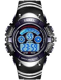 AnazoZ Reloj Impermeable Reloj Hombre Luminoso Relojes Niños Reloj de Estudiante Relojes para Niños Reloj Despertador