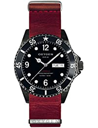 University Sports Press EX-D-MBB-40-NL-RE - Reloj de cuarzo unisex, correa de cuero color rojo