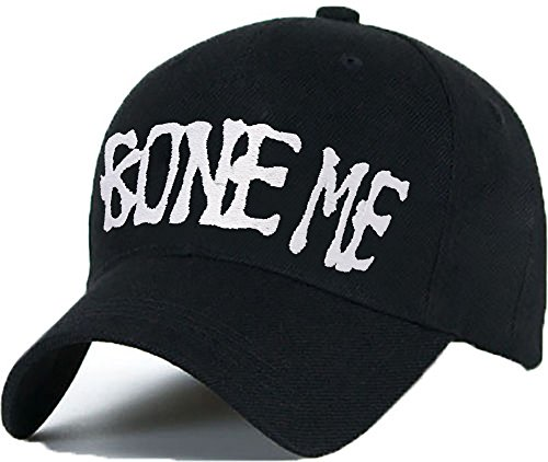 Bonnet Casquette Snapback Baseball BONE ME 1994 Hip-Hop en Noir / Blanc avec les ASAP Bad Hair Day