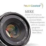 Meike Objektiv, manueller Fokus, 35mm f/1,7 für spiegellose M4/3 MFT Kamera