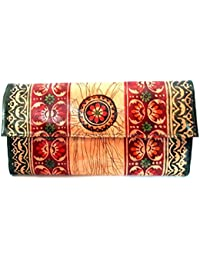 Sikha Handicrafts Women's Goat Leather Wallet Small Multi-Coloured