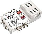 DUR-Line DCR 5-2-4-L4 SCR-Schalter - Einkabellösung für 2x4 SCR-Teilnehmer + 4 Legacy Ausgänge - 2X Testsehr Gut