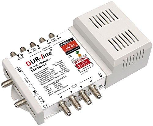 DUR-line DCR 5-2-4-L4 SCR-Schalter - Einkabellösung für 2x4 SCR-Teilnehmer + 4 Legacy Ausgänge - 2X Test sehr gut